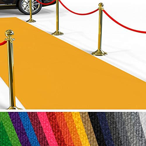 Passatoia Evento al Metro - Passerella Anti-Scivolo | Tappeto per Matrimonio, Cerimonia, Sfilata | 18 Colori, 2 Larghezze, fino a 50 m di Lunghezza |200x300 cm - Giallo