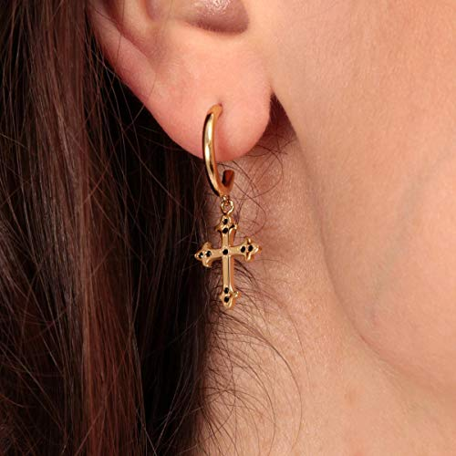 Morellato Orecchini da donna, Collezione Devotion, in acciaio, PVD oro giallo, cristalli - SARJ13