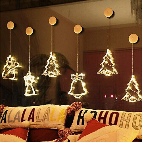 Decoración colgante de ventana de luz LED de Navidad, decoraciones de luces...