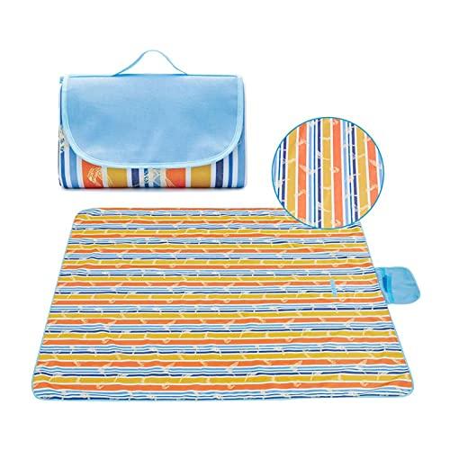 YUEWEIWEI Las mantas de picnic son impermeables, grandes alfombras de playa plegables a prueba de arena que se pueden utilizar para fiestas de camping al aire libre, alfombras de viaje portátiles
