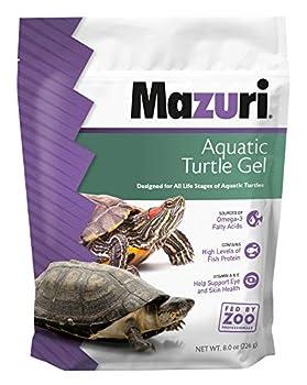 Mazuri   Aquatic Turtle Food   Easy-to-Serve Gel   Freshwater Formula- 8 Ounce  8 oz  Bag