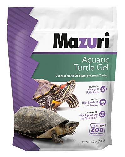Mazuri   Nutritionally Complete Aquatic Turtle Food   Easy-to-Serve Gel   Freshwater Formula- 8 Ounce (8 oz) Bag
