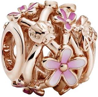 Pandora Charm a forma di margherita rosa aperto