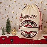 UltraByEasyPeasyStore Grande Personalizada Bolsa de Navidad Saco de Santa Claus Adultos Niños Saco Polo Norte Rojo Express