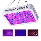 CXhome LED Pflanzenlampe 600W Pflanzenlicht Doppelschalter Vollspektrumm mit UV IR 10000K Led Grow Lampe Daisy-Chain fur Pflanzen Wachstum im Gewächshaus(60 * 10W)