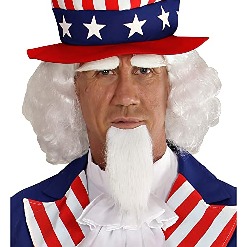 WIDMANN 06750Uncle Sam Wig with Beard and Eyebrows?White