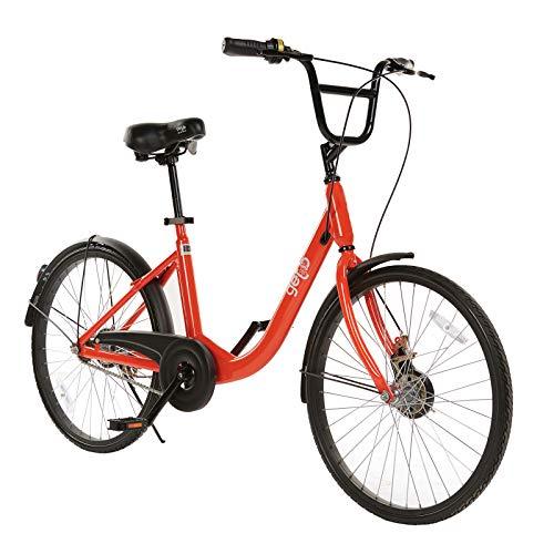 "CTC Getb 24\"" 24 Zoll Wheel Single Speed Bike Orange Mädchenfahrrad Fahrrad Citybike Bicycle"