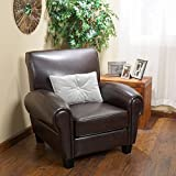 Christopher Knight Home Finley Bonded Leather Club Chair, Brown