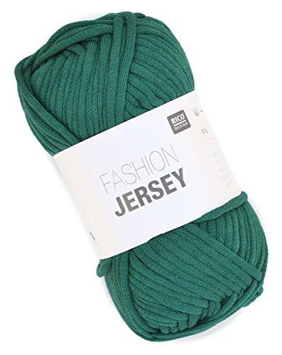 Rico Fashion Jersey Fb. 014 - smaragd, Jersey Bändchengarn, Sommerwolle, Schlauchgarn zum Stricken & Häkeln