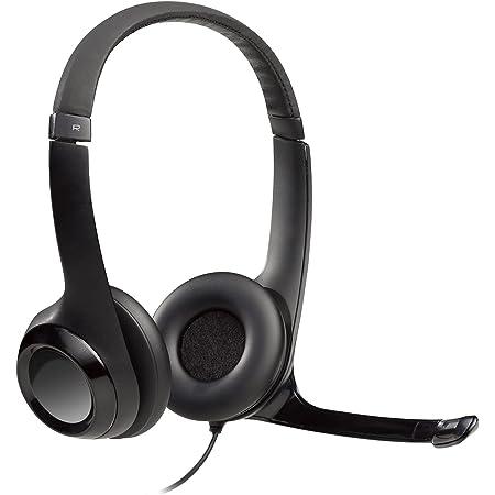 Logitech H390 Auriculares con Cable, Sonido Estéreo y Micrófono USB con Supresión de Ruido, Controles Integrados en el Cable, PC/Mac/Portátil/Chromebook - Negro