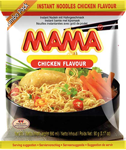 MAMA Instantnudeln mit Hühnerfleischgeschmack – Instantnudelsuppe orientalischer Art – Authentisch thailändisch kochen – Im Bigpack – 20 x 90 g