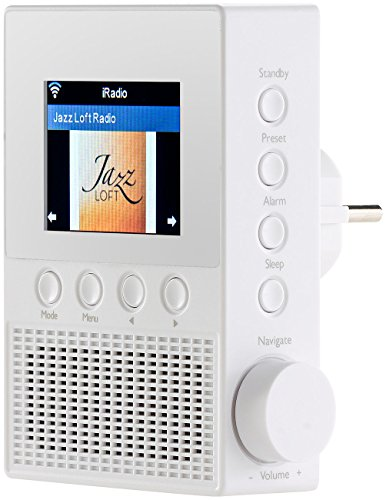 VR-Radio Steckdosenradio: Steckdosen-Internetradio IRS-300 mit WLAN, 6,1-cm-Display, 6 Watt (WLAN Radio Steckdose)