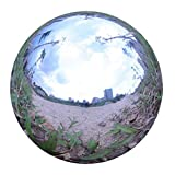 """Kanff Durable Stainless Steel 6"""" Gazing Ball, Hollow Ball Mirror Globe Polished Shiny Sphere for Home Garden"""