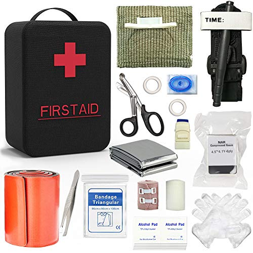 SHBC Emergency Survival Trauma Kit with Tourniquet 36 Inch Splint, CAT tourniquet, Israeli Bandage for First Aid Response, Gun Shots, Blow Out, Severe Bleeding Control and More Emergency Medical Suppl