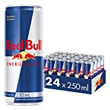 Red Bull Bebida Energética, Regular - 24 latas de 250 ml. - Total 6000 ml.