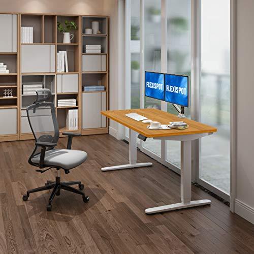 Flexispot - Mesa de escritorio eléctrica regulable en altura con 3 niveles de altura y mesa Con control de memoria y arranque suave.