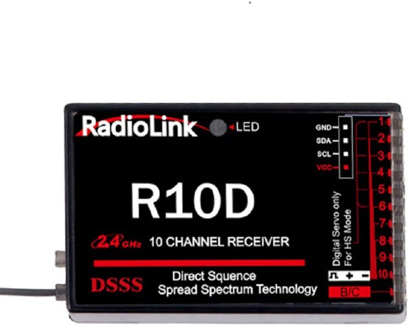 Time sale Limited time trial price GARTT Radio link R10D 10ch DSSS 10 Channe AT10 2.4G receiver for
