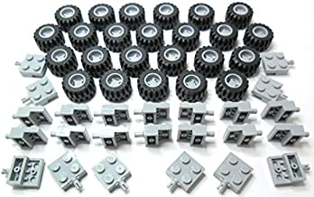 80 Tyres 40 GREY Plates // Axles LEGO WHEELS 100 Piece Set 80 Wheels