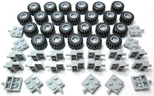 LEGO - Reifen, Felgen und Achs-Set hellgrau. 72-teilig. Lieferung erfolgt wie abgebildet in Blisterpackung.