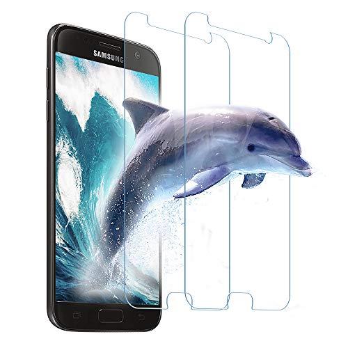 Carantee Panzerglas Schutzfolie für Samsung Galaxy S7, 9H Härte, Anti-Kratzer/Bläschen/Fingerabdruck/Staub, Ultrabeständig, 0.33mm Ultra-klar Panzerglasfolie für Samsung Galaxy S7