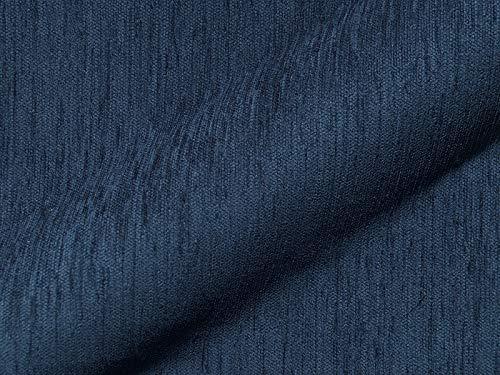 Raumausstatter.de Möbelstoff MALMÖ 505 Uni Farbe blau als robuster Bezugsstoff, Polsterstoff blau einfarbig zum Nähen und Beziehen, Polyester, Polyacryl, Baumwolle
