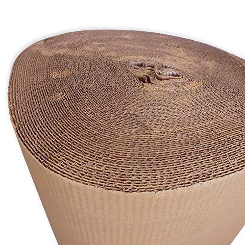 1 Bobina cartón ondulado 120 cm. Medidas: 120cm alto x 100m lineales.