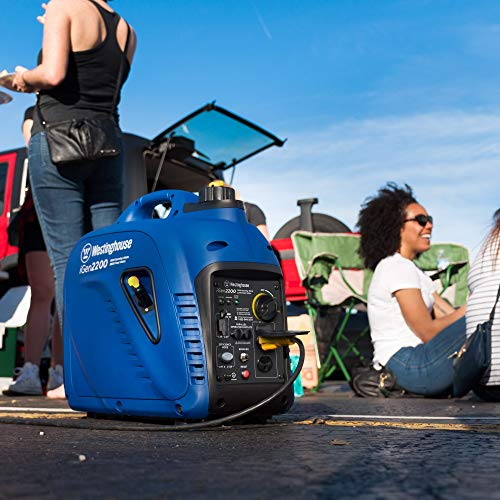 Westinghouse iGen2200 Portable Inverter Generator 1800 Rated & 2200 Peak Watts, Gas Powered, CARB Compliant
