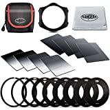 Rangers 8pcs ND Filter kit (Full and Graduated ND2, ND4, ND8, ND16 Filters, Optics) and 9 ...