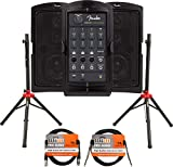 Fender Passport Conference Portable PA System Bundle with Compact Speaker Stands, XLR Cabl...