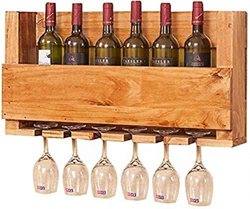 POCO moderno de madera de pared estante del vino Bar Sala pared del café de la decoración de recibir información de precios de dos estilos de visualización se puede elegir botellero (Tamaño: A), Tamañ