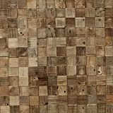 Timberwall - Reclaimed Collection Cube - DIY Wood Wall Panels - Solid Salvaged and Upcycled Wood - Nails and Staples Application - 8.2 Sq Ft