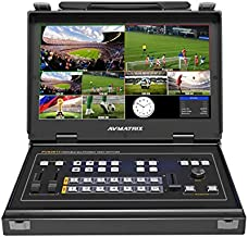 "AVMATRIX PVS0613 13.3"" FHD LCD Portable 6CH SDI/HDMI Multi-Format Video Switcher"