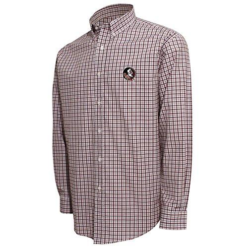 NCAA mens Ncaa Men's Campus Specialties Check Shirt,White/Maroon/Platinum,X-Large
