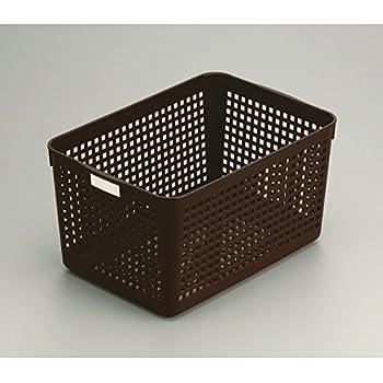 バスケット ディープ(18.2×26.4×高さ14.2cm) ブラウン