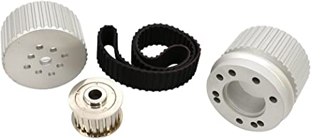 Assault Racing Products A8846PBK Chevy//GM 2 Groove Black Aluminum Power Steering Pump Pulley 5-3//4