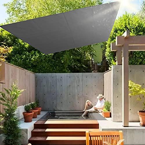 BOTOWI Toldo Vela de Sombra Rectangular Prevención Rayos UV Solar Protección, Vela de Protección Solar, Parasol Resistente Impermeable para Patio, Exteriores, Jardín,Gris,2.1x1.5m/7x5ft