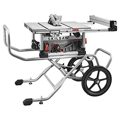SKILSAW SPT99-11 10 Inch Heavy Duty Worm Drive Table Saw with Stand, Silver