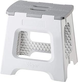 VIGAR Taburete Plegable Compact de Color Gris de 32 cm de Al