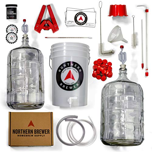 Northern Brewer Deluxe Homebrew Starter Kit, Equipment and 5 Gallon Recipe (Irish Red)