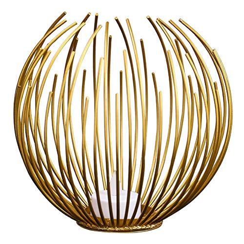 Danigrefinb Portavelas de metal geométrico redondo para decoración de boda, fiesta, color...