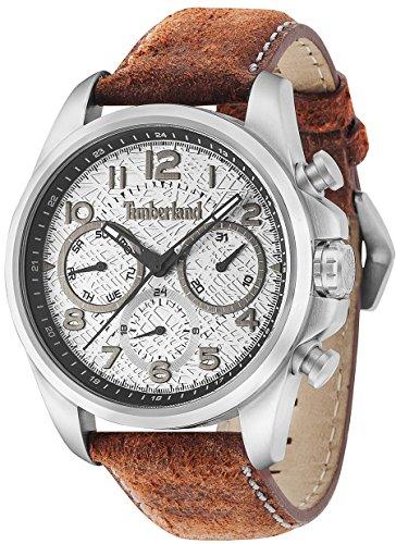 Timberland Smithfield Herren Uhr analog Quarzwerk mit Leder Armband 14769JS-13