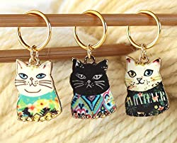 Super cute cat stitch markers for knitting found on amazon.com