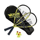 Vicfun Speed-Badminton 100 Set Junior, Unisex-Adulti, Giallo-Nero, Keine
