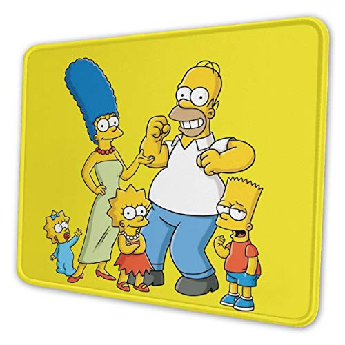 Gaming Anime The Simpsons Mouse Pad with Stitched Edge Anti-Slip Mouse Mat Extended Protecting The Desktop Mousepads for Laptop Computer Keyboard 7 X 8.6 in