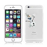 Disney La Reine des neiges Coque souple transparente en TPU pour Apple iPhone 5/5S et 5SE, plastique, OLAF .1, APPLE IPHONE 5SE