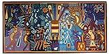 Micuari Cuadro de estambre 120x60cm Arte Wixárika (Huichol)