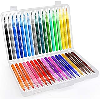 Jimmidda Watercolor Marker Pen 36pcs Colors Water Based Paint Markers with Flexible Tips, Drawing, Coloring, Doodling, Calligraphy and Journaling