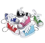 Rhode Island Novelty 3 Inch Chuck Sneaker Shoe Keychains Lot of 12 Assortments May Vary