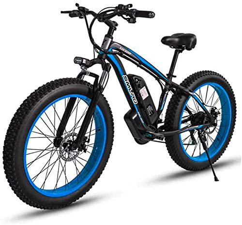 Fangfang Electric Bikes, Adult 26 Inch Electric Mountain Bike, 48V Lithium Battery Aluminum Alloy 18.5 Inch Frame 27 Speed Electric Snow Bicycle, With LCD Display,E-Bike (Color : C, Size : 15AH)