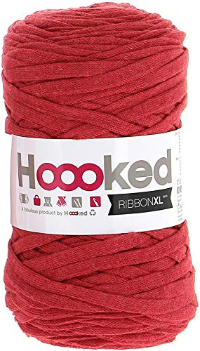 Hoooked RXL34 Geschenkband, Rot - Lipstick Red, 120 m